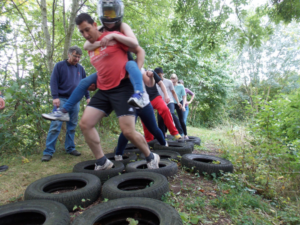 Tyres Obstacle on Assault Course