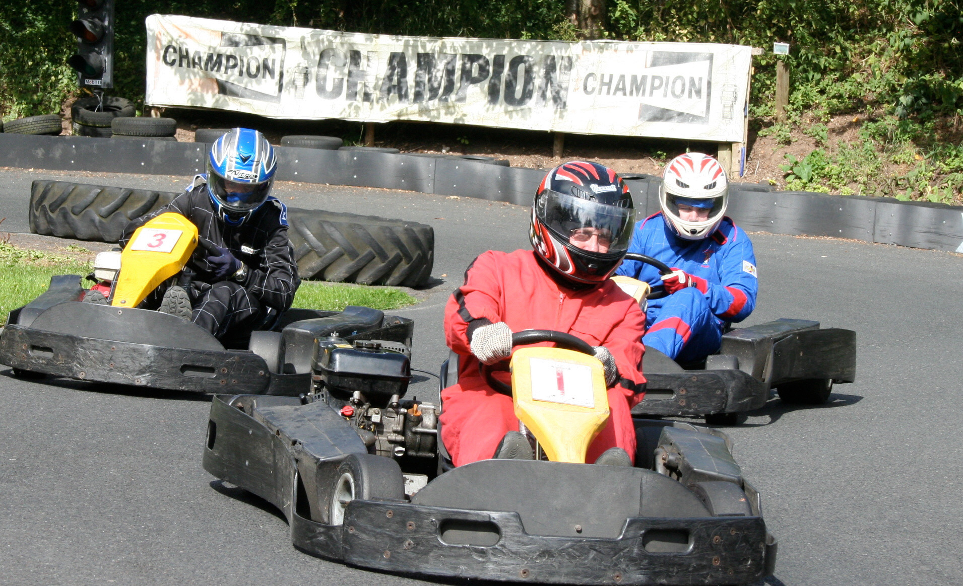 Three Go Karts